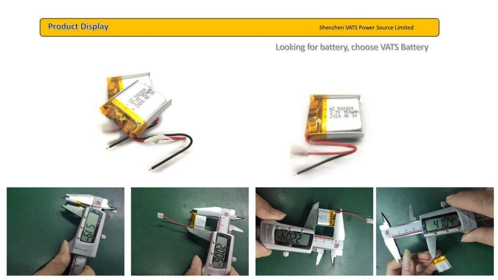 502020 150mah lipo battery