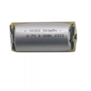18350 3.7v 900mah lipo battery
